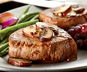 Premium Organic<br />Filet Mignon - Five 4-oz. Premium Filet Mignon Steaks