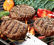 Premium Organic Steak Burger Patties - Two 2-lb. pkgs / 12 Steak Burger Patties