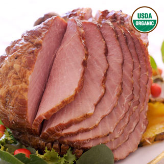 Organic Hardwood Smoked Bone-In Spiral Cut Half Ham